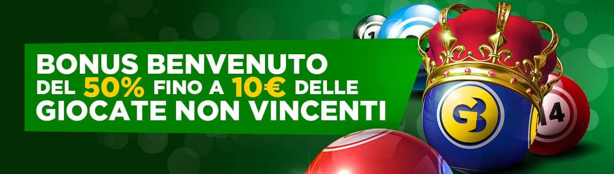 goldbet BONUS BENVENUTO BINGO 50% fino a 10€