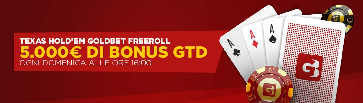 goldbet TEXAS HOLD'EM GOLDBET FREEROLL